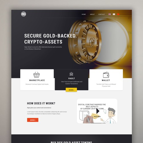 Professional website with the title 'Professional wen design for Bank'