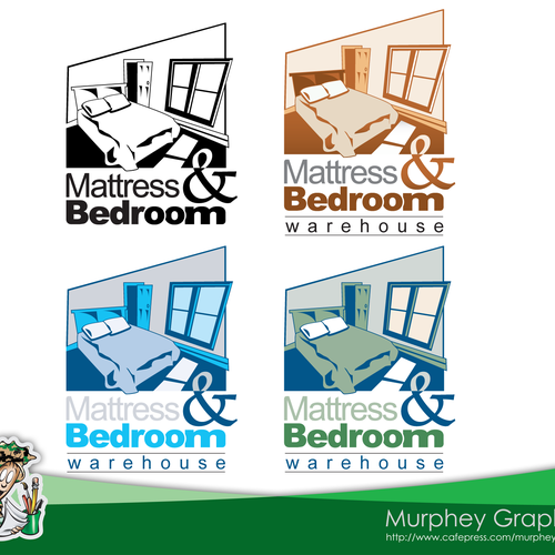 Warehouse logo with the title 'Need Professional Logo for Mattress and Bedroom Warehouse'