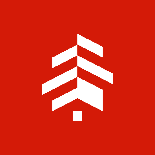 Construction brand with the title 'home + wood + pine'