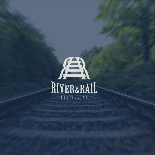 Steam design with the title 'Rail logo'