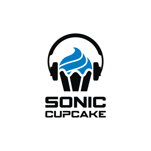 Headphone logo with the title 'SONIC CUPCAKE'