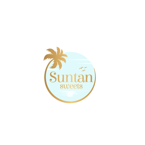Girly design with the title 'Logo Suntan Sweets'