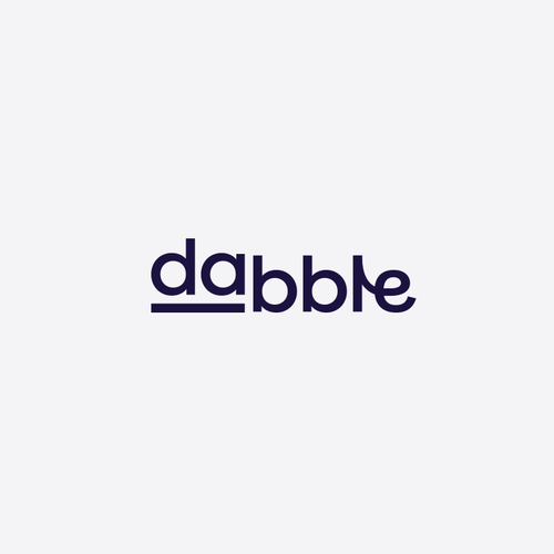 Cannabis design with the title 'dabble'