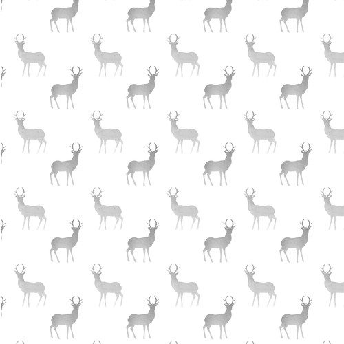 Seamless design with the title 'Seamless watercolor pattern with deer'