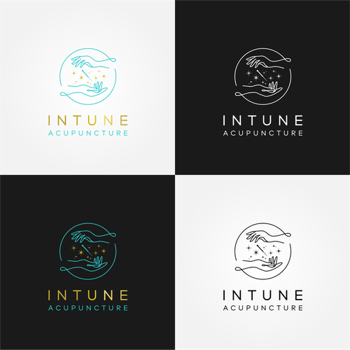 Outline logo with the title 'InTune Acupuncture'