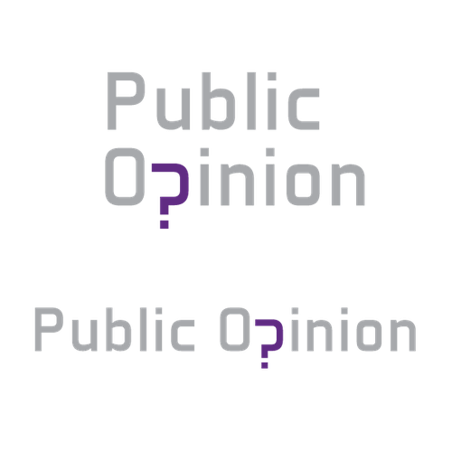 Question mark design with the title 'Logo design for a public opinion webpage'