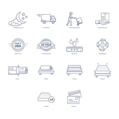 床垫电商商店的图标