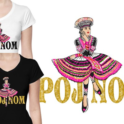 Hmong Inspired Woman t-shirt