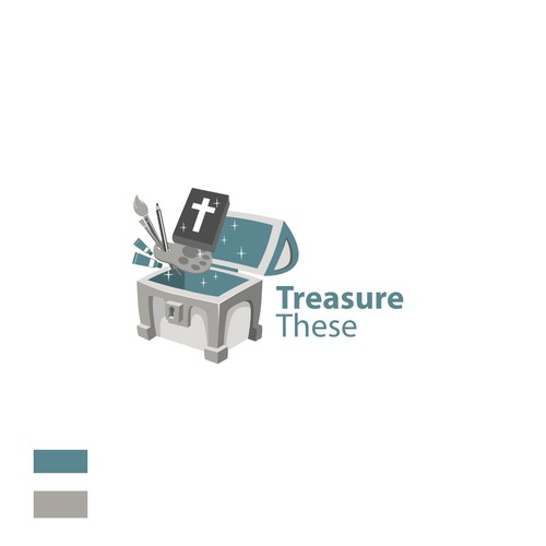 Asset design with the title 'the discovery of a treasure'