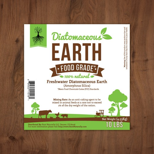Fresh label with the title 'Label for natural product line (for Root Naturally.com)'
