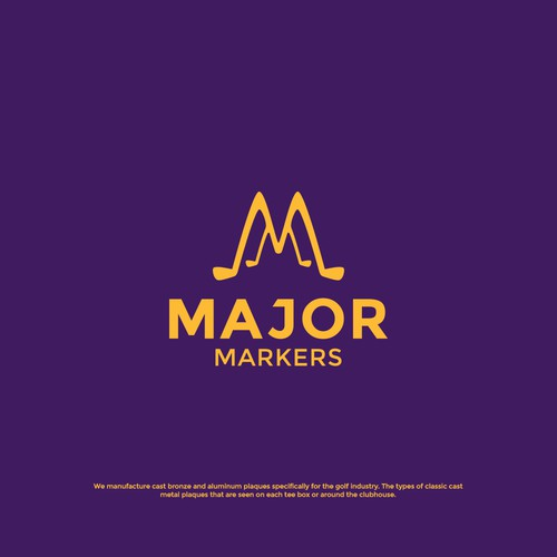 Golf club design with the title 'Major Markers'