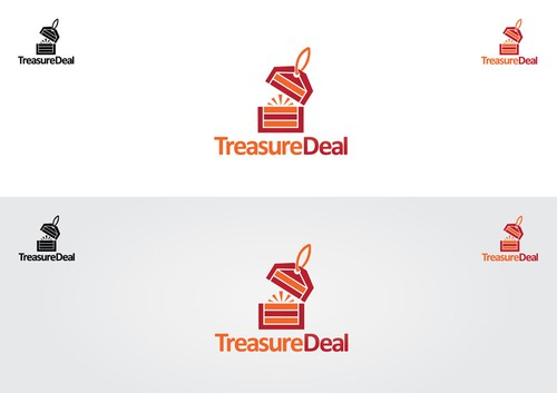 Pictorial design with the title 'TreasureDeal Logo'