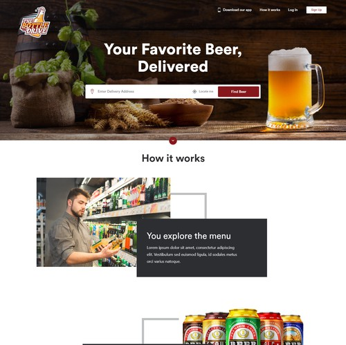 Classy website with the title 'Beer Delivery Website'