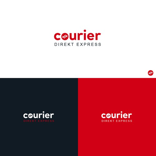 Transportation logo with the title 'Courier Logo design'