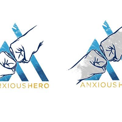 Anxious Hero Logo tshirt