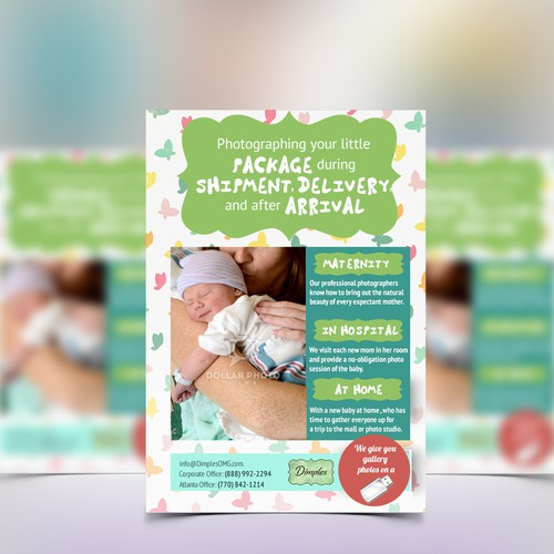"Newborn design with the title 'One-sheet Sales Flyer (8.5""x11 one sided)'"