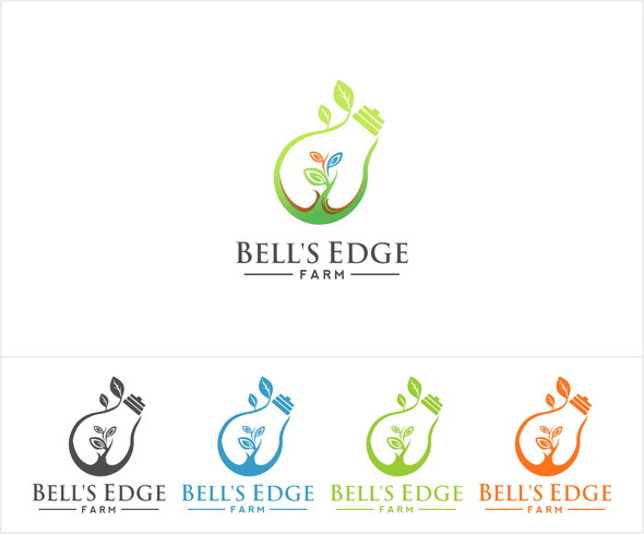 Excellence logo with the title 'modern logo design for innovative organic farm'
