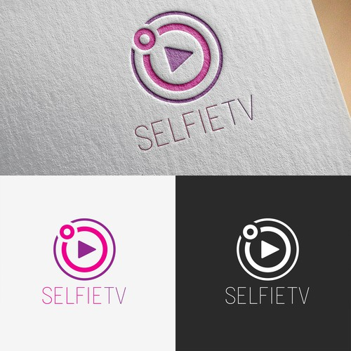 Selfie design with the title 'Simple logo concept for website'
