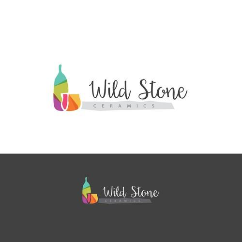 Ceramic design with the title 'wild stone ceramics '