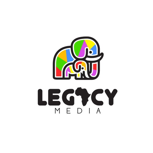 Elephant logo with the title 'Legacy Media'