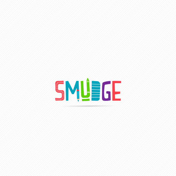 Art supply logo with the title 'Logo Smudge'