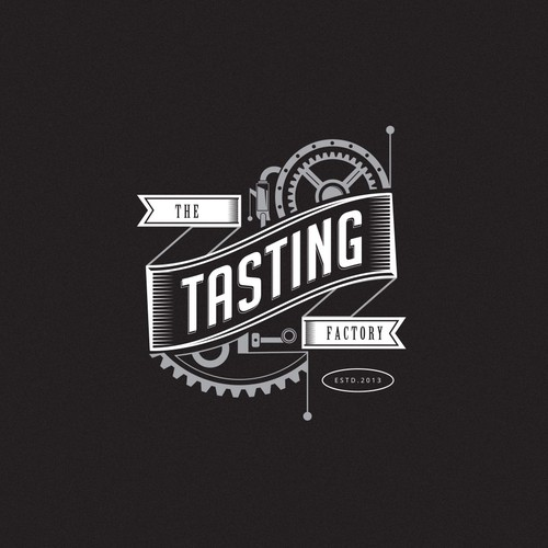 "Factory logo with the title 'logo for ""the Tasting Factory"" '"