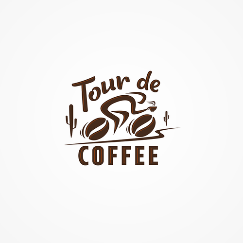 Tour logo with the title 'Tour de Coffee Logo'