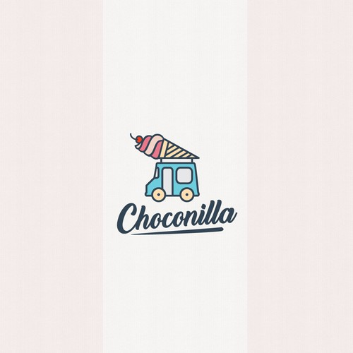 Truck logo with the title 'Logo design for an ice cream truck '