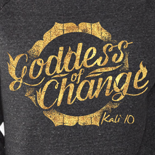 Goddess design with the title 'Kali The Goddess of Change T-shirt'