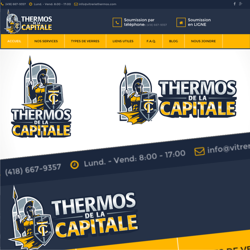 Washing logo with the title 'Thermos de la Capitale'