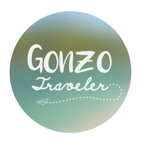 Wanderlust design with the title 'Logo concept for Gonzo Traveler'