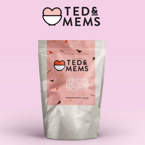 Cute label with the title 'Cute and Quirky Ted&Mems'