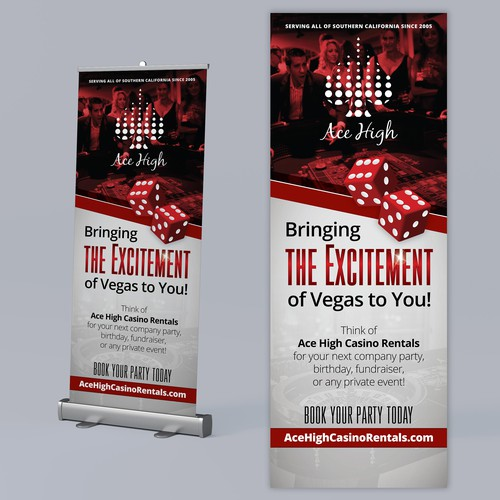 Casino design with the title 'Roll up Banner'