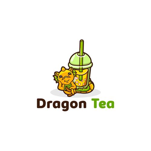 Boba logo with the title 'Bubble tea logo'