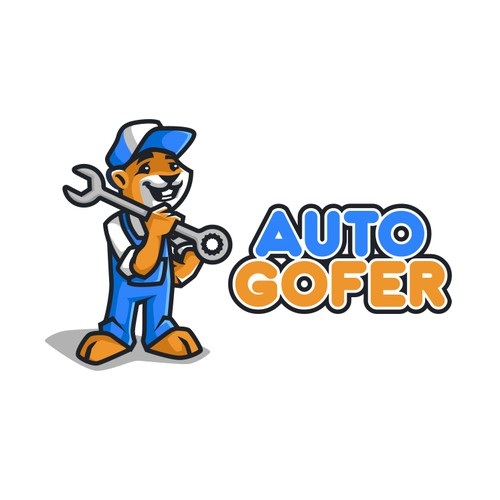 Electric car logo with the title 'Auto Gofer'