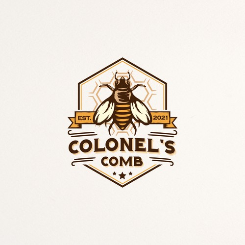 Veteran logo with the title 'Beekeeper Logo Design'