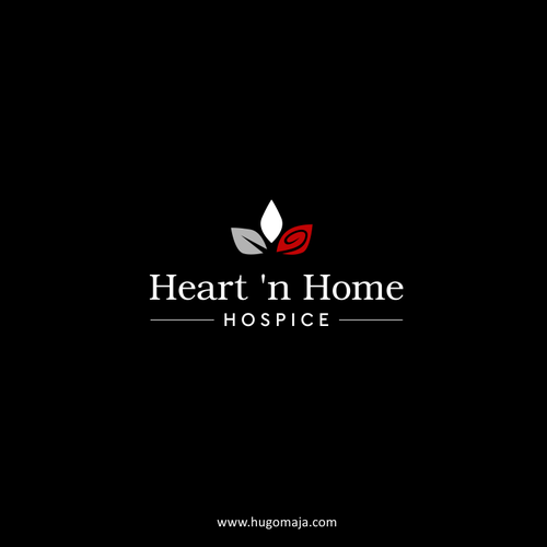 Emotional logo with the title 'Heart and home hospice'