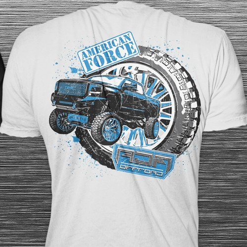Truck t-shirt with the title 'T-shirt Concept for a custom truck'