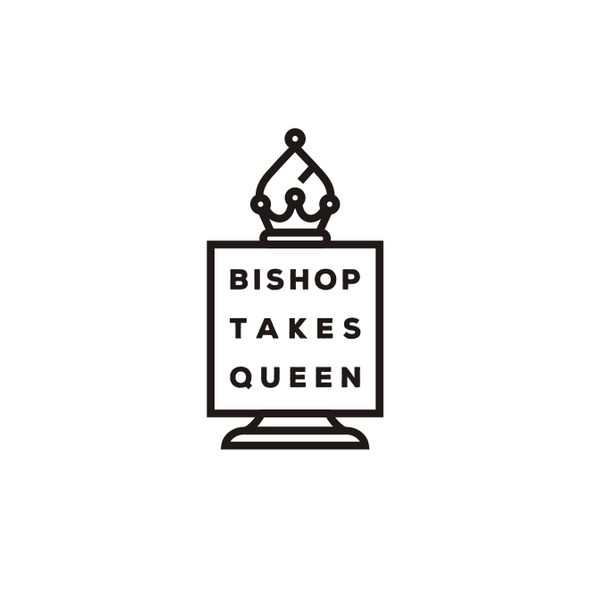 Bishop logo with the title 'Bishop and Queen Chess'