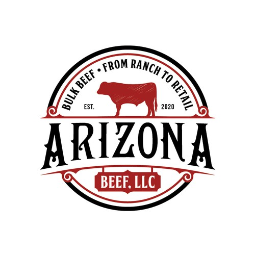 Beef logo with the title 'Arizona beef, llc'
