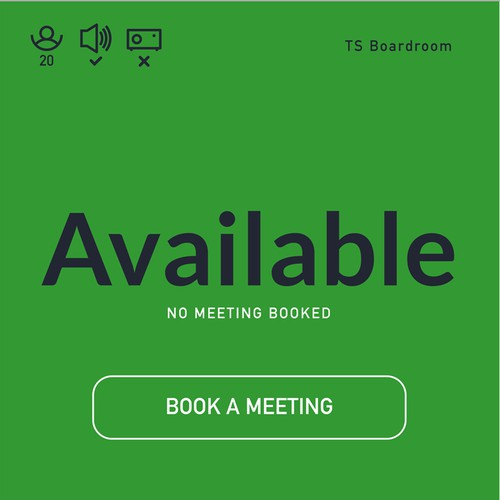 Touch design with the title 'Room booking app'