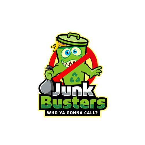 Junk removal logo with the title 'Junk Busters'