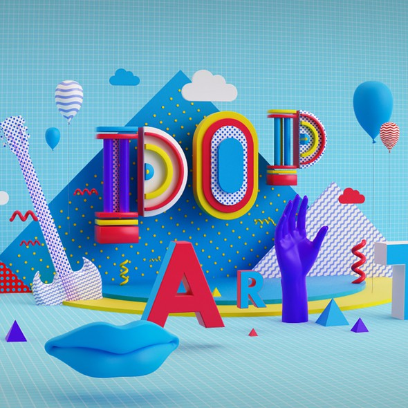 Clean artwork with the title '99D Community POP Art'