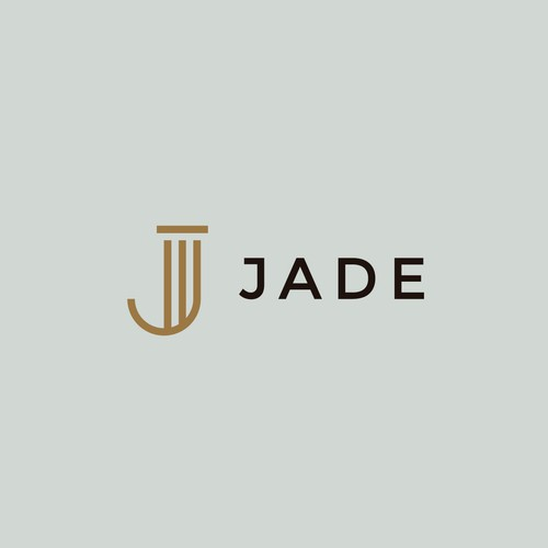 Law firm brand with the title 'Jade J Legal Logo'