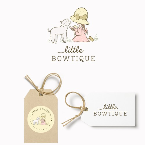 Black sheep logo with the title 'Little BOWTIQUE 🌸☺️⭐️ Company sells bows and bow organizers, and other hair accessories'