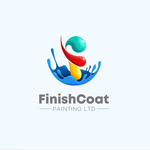 Paint logo with the title 'Finish Coat Logo concept'