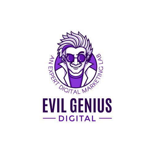 Evil design with the title 'Design a badass logo for our digital marketing powerhouse - Evil Genius Digital'