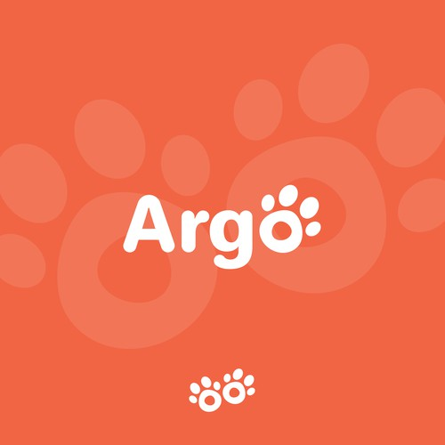 Paw design with the title 'Argo'