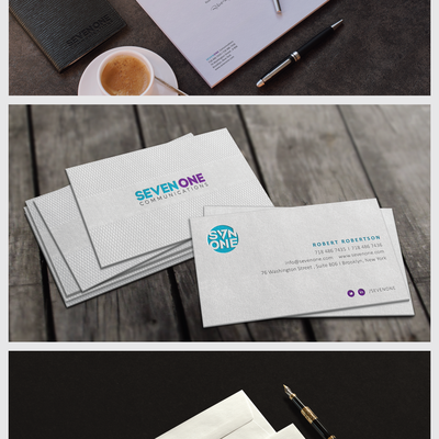 Letterpress Stationery design for Seven One Communications