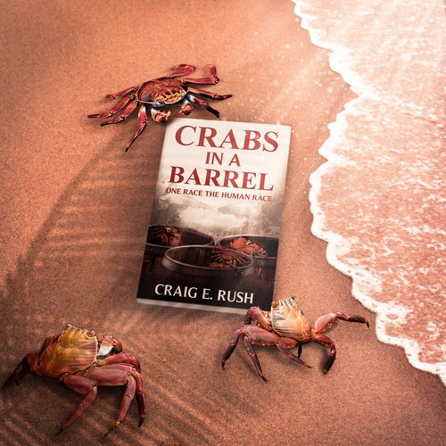 Peace book cover with the title 'Crabs in a Barrel Book'